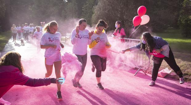More than 250 eager runners took part in Cancer Focus Northern Ireland's 5K Pink Run