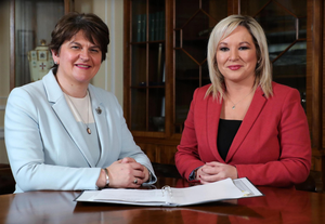 Influential: First Minister Arlene Foster and deputy First Minister Michelle O'Neill