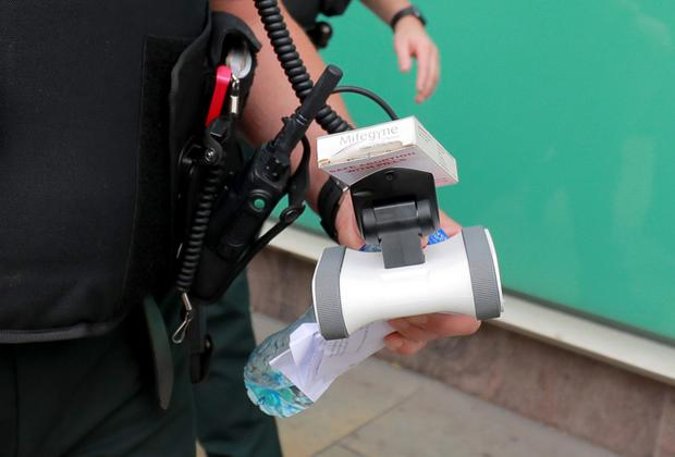 Pills and a robot are handed over to police