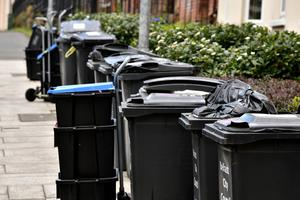 Bins on the street for collection