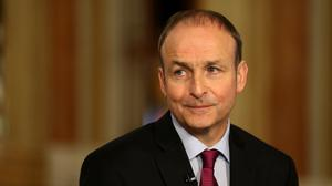 Fianna Fail leader Micheal Martin attends the general election 2016 count at City Hall in Cork