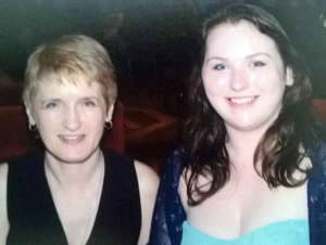 Colette and Rebecca on a night out