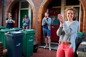 Founder of Clap for Carers, Annemarie Plas, takes part