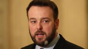 He addressed party members at the SDLP annual conference at Titanic Belfast (Niall Carson/PA)