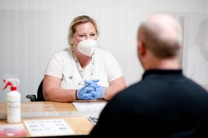 A probation officer at work during the pandemic (PBNI/PA)