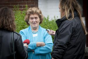 Neighbour Betty Hutchman voices her disgust