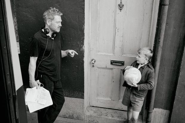 Director Kenneth Branagh (left) and actor Jude Hill