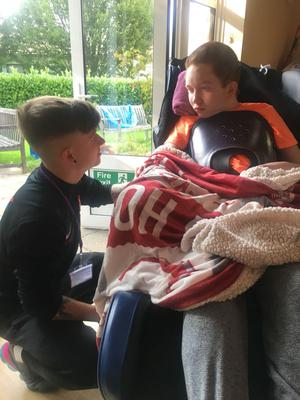 Cameron with his brother Andrew