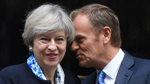 European Council president Donald Tusk met with Prime Minister Theresa May in Number 10 this week