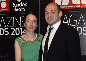 Rory Best and his wife Jodie
