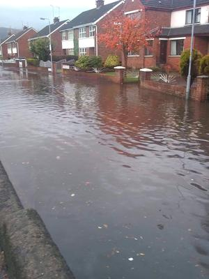 Flooding at Orchardville Avenue in Finaghy
