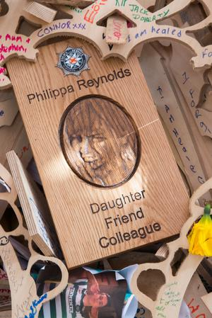 The plaque carved in Philippa's memory