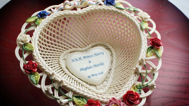 The special basket for the wedding of Prince Harry to Meghan Markle