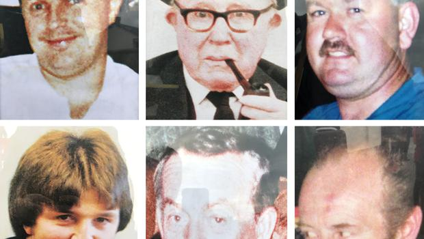 Patsy O'Hare, Barney Green, Adrian Rogan, Eamon Byrne, Daniel McCreanor and Malcom Jenkinson were killed in the attack (Loughinisland/PA)