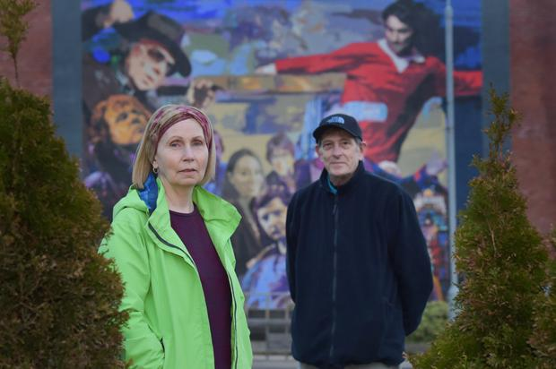 Speaking out: Turas project's Linda Ervine and (right) Ivor Reid