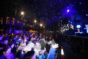 The Christmas lights switch-on at Belfast City Hall