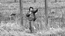 Stone during his attack on funerals at Milltown in 1988