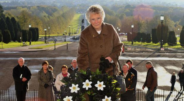 Kathleen Armstrong has died at the age of 90 (Aaron McCracken/Harrison Photography/PA)