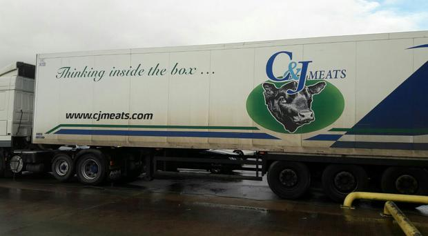 Police are appealing for information following the theft of a refrigerated lorry containing 50 beef carcasses in Loughgall, Co Armagh (PSNI/PA