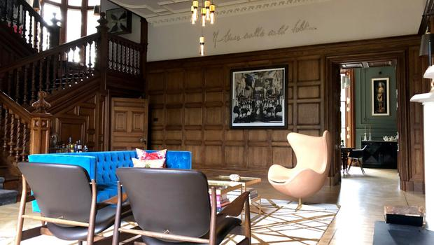 The refurbished and restored living room