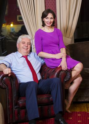 Alasdair McDonnell at his home in south Belfast yesterday with his wife Olivia