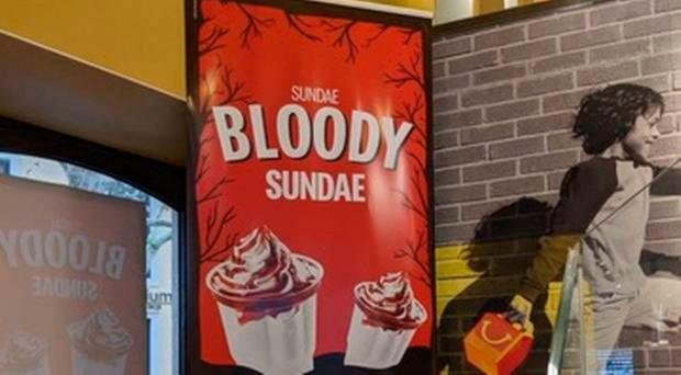 An image of the offending advertisement at a McDonald's in Portugal