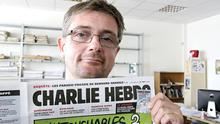 Charlie Hebdo publishing director and satirical cartoonist Stephane Charbonnier, popularly known as Charb, who was killed in yesterday's attack
