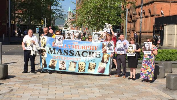 Families of those killed in Ballymurphy in 1971 (David Murphy)