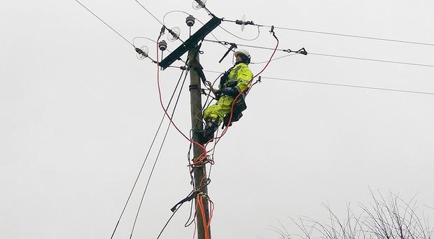 NIE emergency crews are repairing the electricity network (Northern Ireland Electricity/PA)