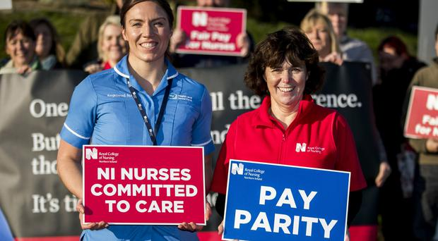 Around 9,000 nurses will take the UK's first 12-hour strike action on Wednesday over pay (Liam McBurney/PA)
