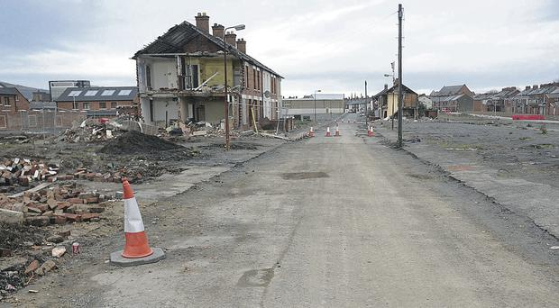 The Village area of south Belfast after demolition work was carried out