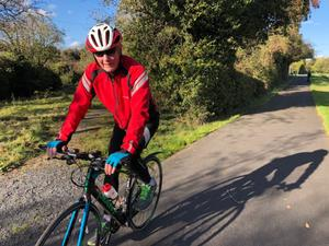 Tom Hawthorne credits cycling with helping him to overcome the side-effects of surgery