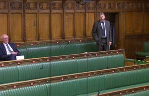 Session: Jim Shannon and Sammy Wilson in the House of Commons yesterday