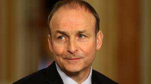 Fianna Fail Leader Micheal Martin was speaking at his party's annual commemoration of the 1916 Easter Rising at Dublin's Arbour Hill