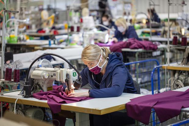 O'Neills helping in the fight against coronavirus by manufacturing medical scrubs at its Strabane factory