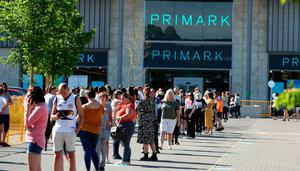 Queues form outside Primark in Rushden