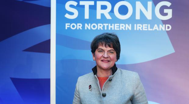 DUP party leader Arlene Foster gave an interview ahead of the party conference (Brian Lawless/PA)