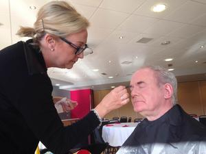 Deputy First Minister Martin McGuinness getting prepared to be photographed