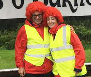 Shirley McEntee with walking partner Fergal Barr who is from Londonderry
