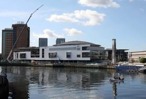 The Waterfront as it looks today, with construction work ongoing
