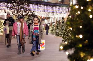 Young shoppers make their way through Victoria Square, Belfast, picking up a few last minute Christmas gifts