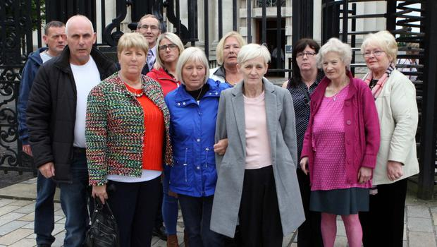 The family of Daniel Hegarty, including sisters Margaret Brady, Catherine Devenney and Philomena Conlaghan, at an earlier High Court hearing