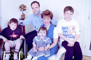 Nigel with wife Diane and children Mark, Andrew and Robyn in 1997