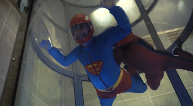 David Sloan, who has Parkinson's Disease, was exhilarated by the experience of indoor skydiving. (WeAreVertigo/PA)