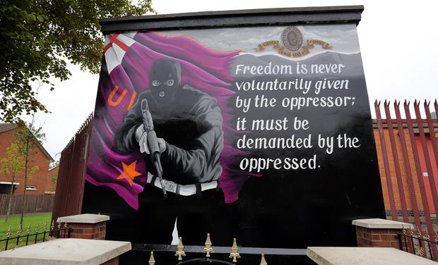 A UVF mural in Inverwood Court, east Belfast (PA)