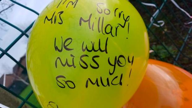 Tributes from pupils following Claire's death last year