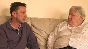 Brian Gemmell and Richard Kerr at their emotional meeting
