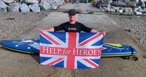 Darren Hardy during his 933km challenge for Help The Heroes