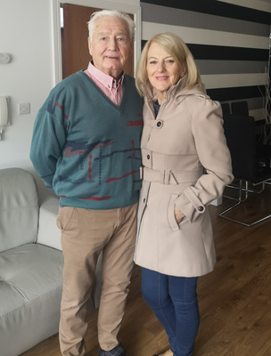Tommy O'Neill with his wife Shirley at home in Ballymena