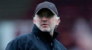 Under fire: Glens manager Mick McDermott, who signed Donnelly